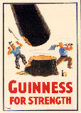 "Postkarte 1938 - Guiness-Werbung: ""Guiness for Strenght"""